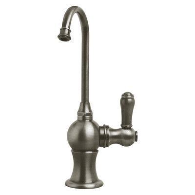 "Whitehaus Collection Forever Hot 7"" One Handle Single Hole Hot Water Dispenser Faucet with Gooseneck Spout Finish: Brushed Nickel"