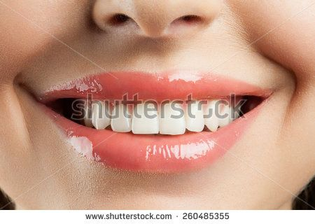 Beautiful smile with withe teeth