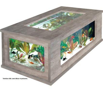 Aquarium Aquatlantis, table basse aspect béton ciré 100 x 63. Pour en savoir plus, cliquez ici : http://www.animaleco.com/catalogue/aquariophilie/aquarium/aquarium-deco/aqua-table-100x63-beton-cire-059