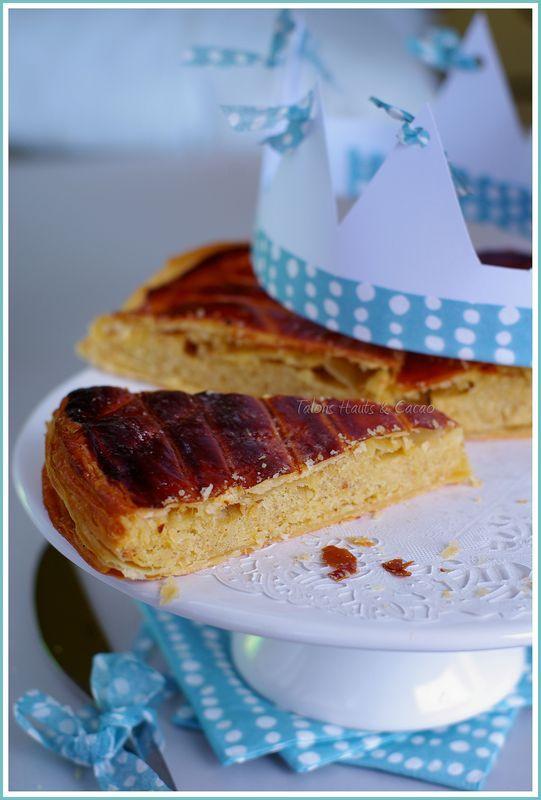 Galette des rois crème d'amande sans beurre vanille-zestes de citron