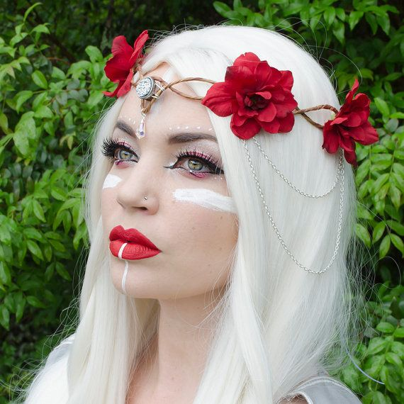 Red Elven Crown by Frecklesfairychest on Etsy