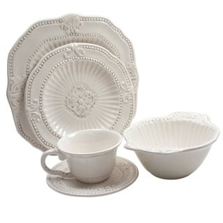 Pfaltzgraff Everyday Elle White and Beige Stoneware 16-piece Dinnerware Set (Service for 4  sc 1 st  Pinterest & 62 best Dinnerware images on Pinterest | Casual dinnerware Workshop ...