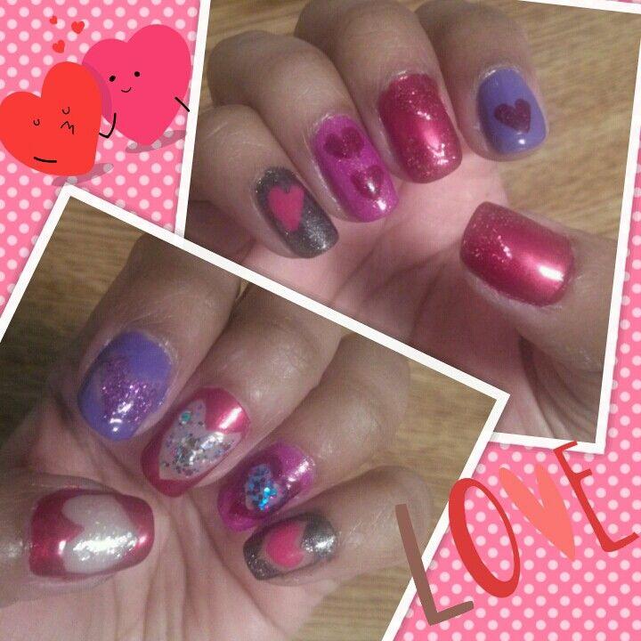 #heartnails #hearts #nailart #naildesigns #nails