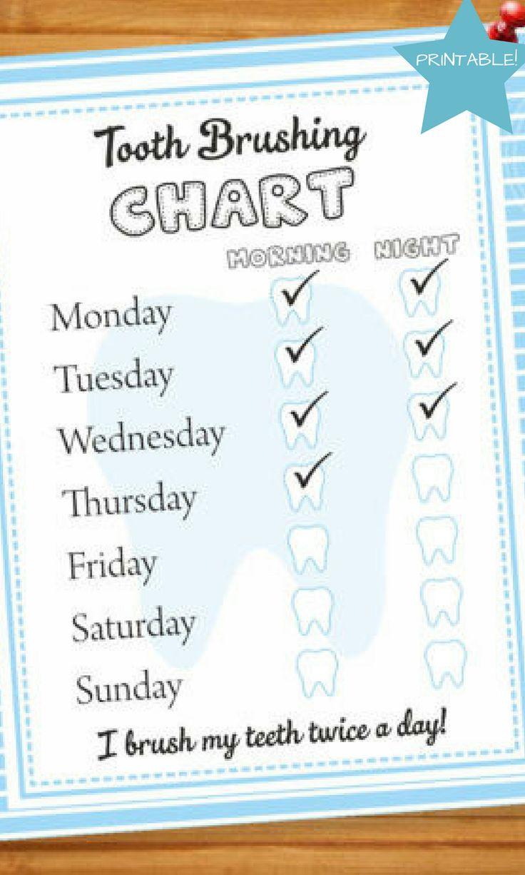 BOYS TOOTH BRUSH Chart Boys Tooth Brushing Chore Chart Child Tooth Brush Chore Chart Toddler Tooth Brush Chart Brush Your Teeth Printable #affiliate