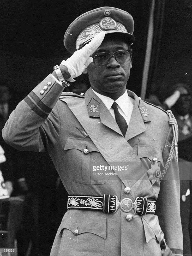 1970s: Mobutu Sese Seko (Joseph Desire Mobutu), Zairean soldier and politician. He joined the Congolese National Movement party and later became the president of the Congo Democratic Republic, now Zaire.