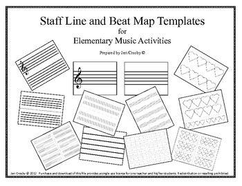 Music Teacher's Toolbox - Staff and Beat Map Templates - Musical Magic - TeachersPayTeachers.com