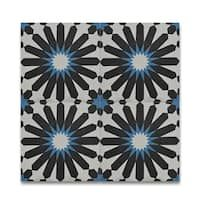 Alhambra Multicolor Handmade Moroccan 8 x 8 inch Cement and Granite Floor or Wall Tile (Case of 12)
