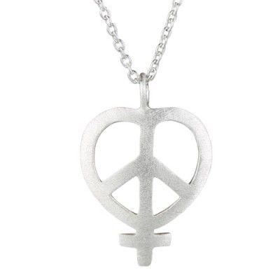 Unik kæde i sølv med powertegnet