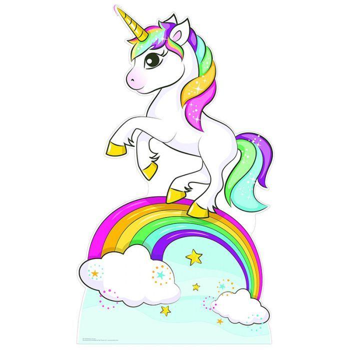 Unicorn And Rainbow Cardboard Cutout Standup Standee With