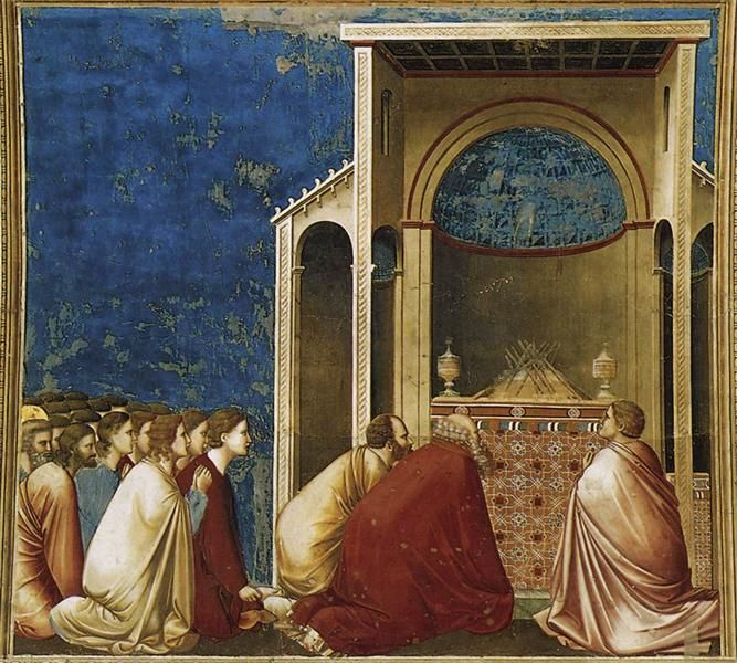 Los pretendientes Rezar, 1304-1306 - Giotto