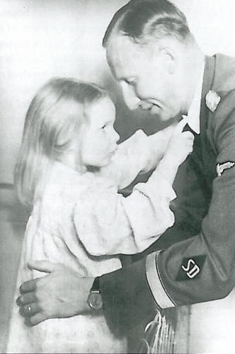 Reinhard Heydrich shares a tender moment with his daughter Silke