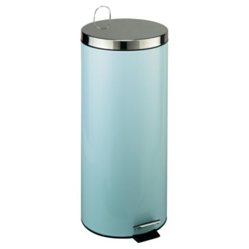 Buy Tesco 30l Pale Blue Pedal Bin With Stainless Steel Lid From Our Waste Blue Bathroom