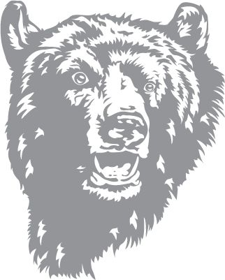 Glass etching stencil of Bear. In category: Other Wildlife