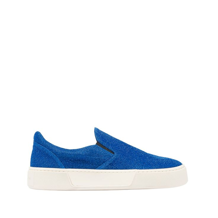 BALENCIAGA Slip-on Lurex Sneakers in mix di materiali D f