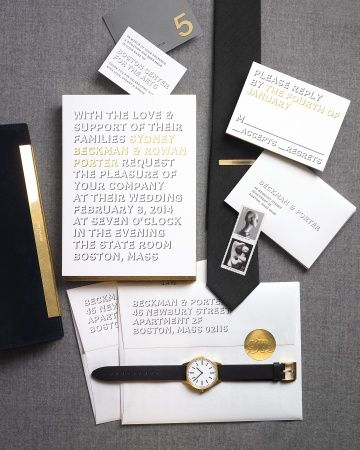 """IIan Koenig for @Bella Figura Letterpress  """"Bennett Simple"""" suite takes a cue from the homme-influenced womenswear that has recently hit the runways"""