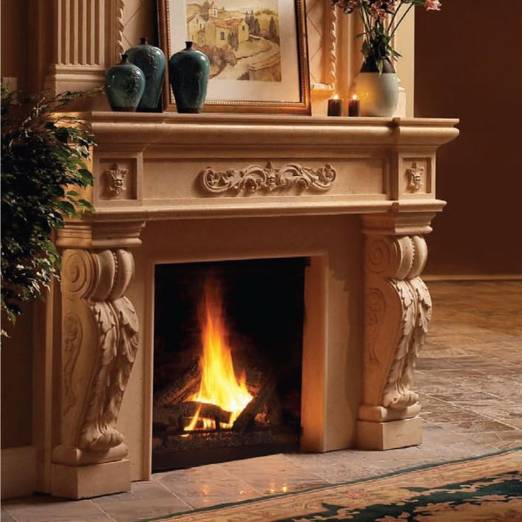 fireplace shelves tuscan | 1142.524 Cast Stone Fireplace Mantel, stone mantle, mantels, mantles ...