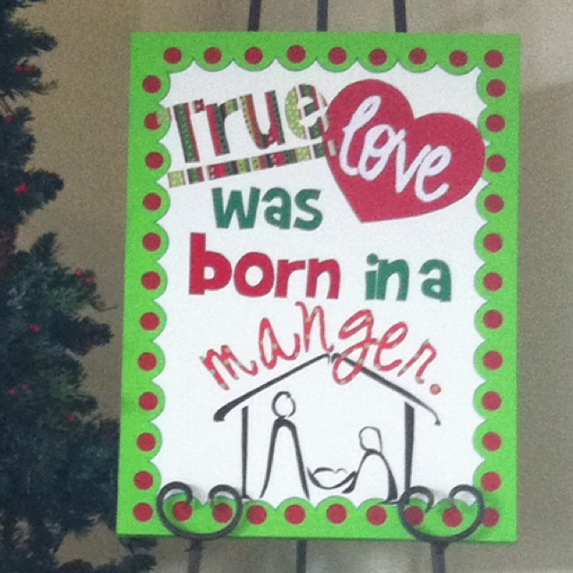 My Pinterest inspired Christmas canvas displayed on my mantle.  I saw the phrase on Pinterest, used heat n bond to iron fabric onto the canvas and painted the border.