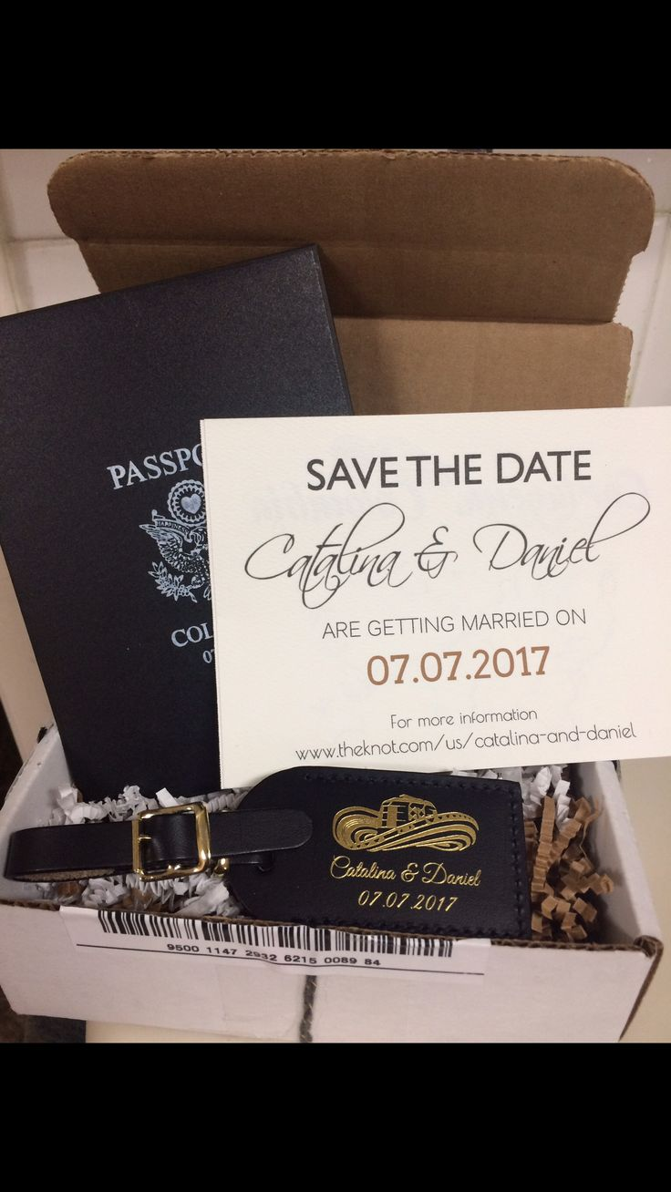 Cartagena, Colombia Destination Wedding Save the Dates, Save the Date Luggage Tags, Passport Save the Date