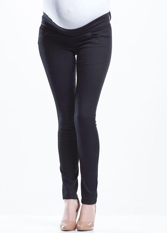 Soon Maternity - Maternity Denim Pants in Black