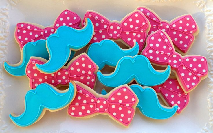Little Miss / Little Man Sugar Cookie Collection. $32.00, via Etsy.  I thought these were so cute!