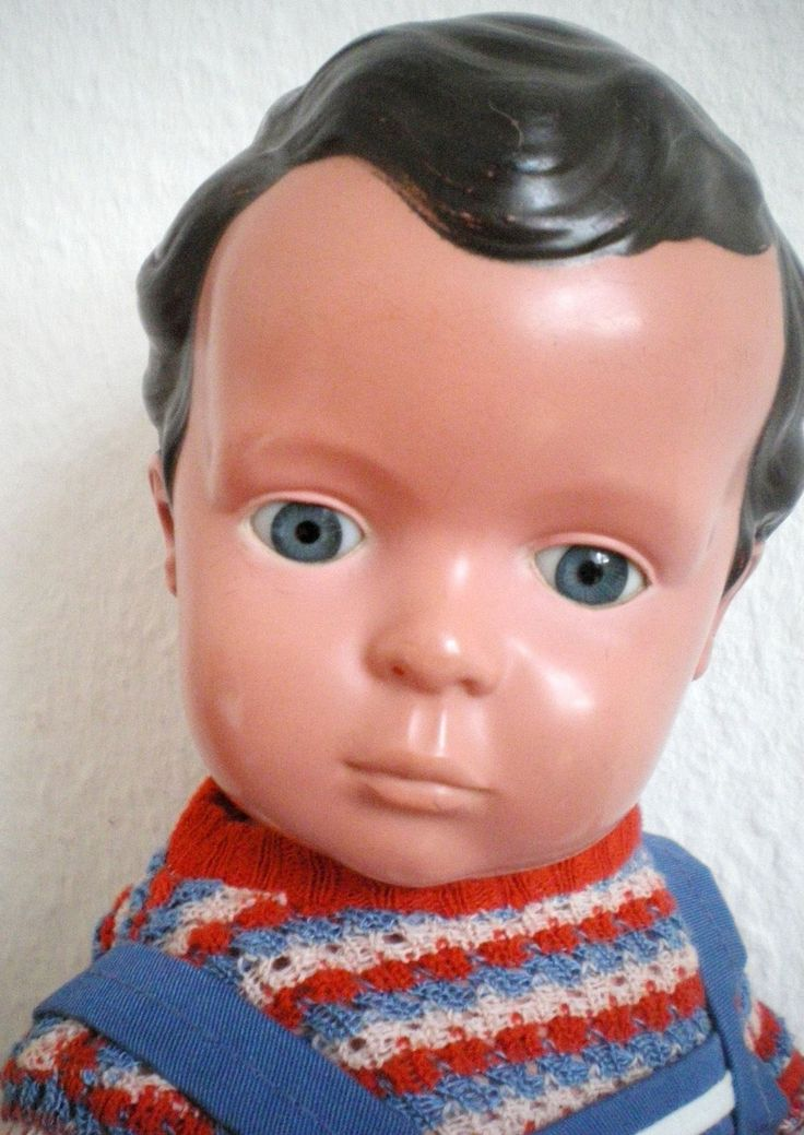 RARITÄT: Seltener alter Schildkröt Hans Puppe dunkle Haare, old german doll | eBay