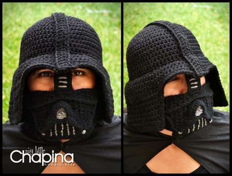 Darth Vader Crochet Hat for Adults: pattern for purchase