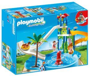 The PLAYMOBIL Water Park with Slides Playset is a water park themed PLAYMOBIL play set which features a swimming pool…