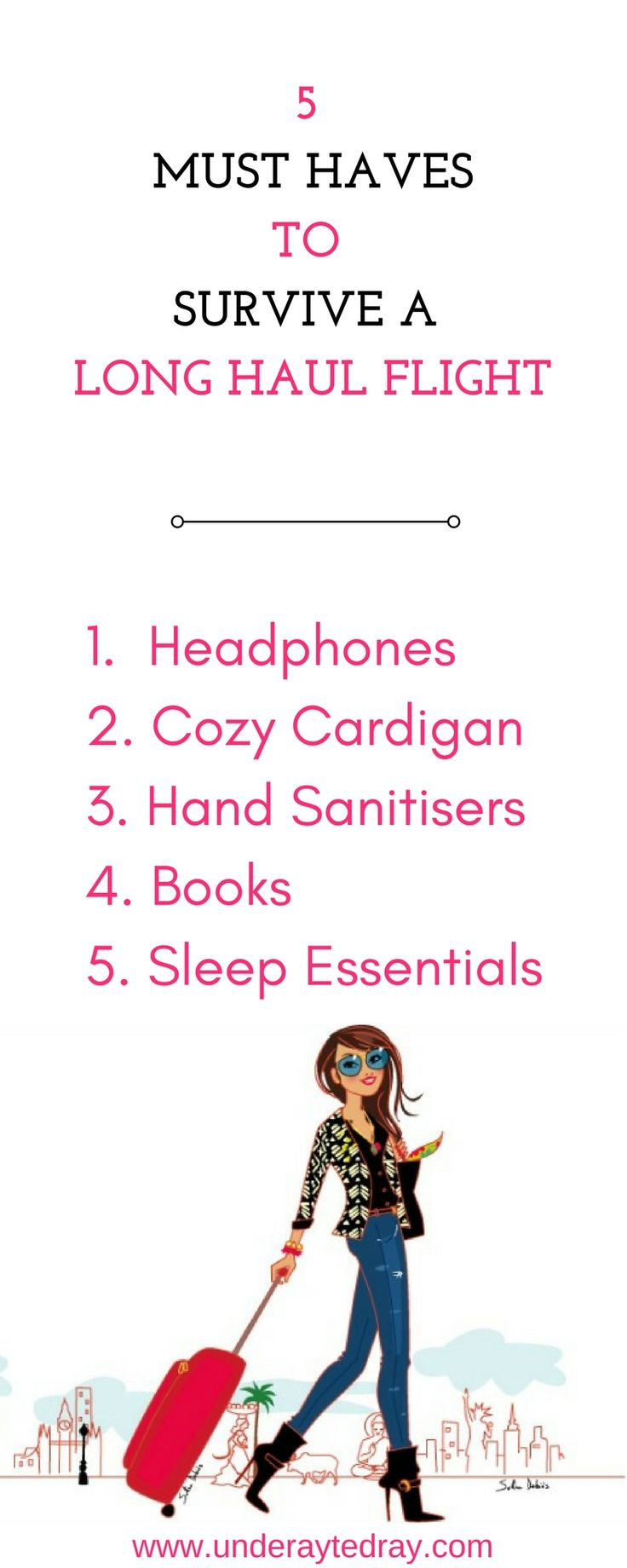 Travel essentials| travel essentials for women| international travel checklist| travel essentials for long lights| hand luggage travel checklist| carry on essentials| what to wear on flights| how to sleep on flights
