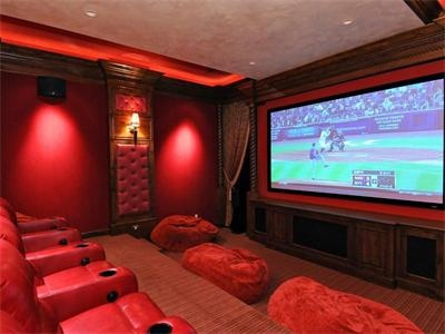 This Home Theater Is Perfect For Entertaining Friends
