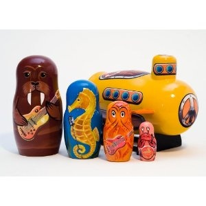 Yellow Submarine Nesting Dolls. I love nesting dolls, especially these!