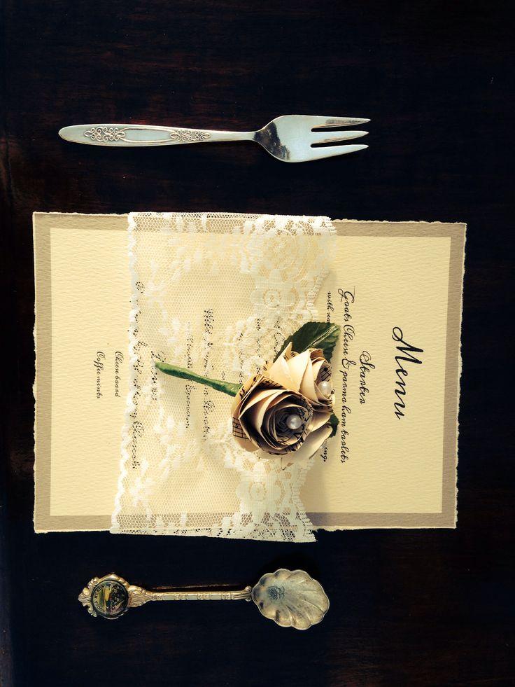 Decorative flower table decoration or buttonhole by www.papervintagelove.com.au