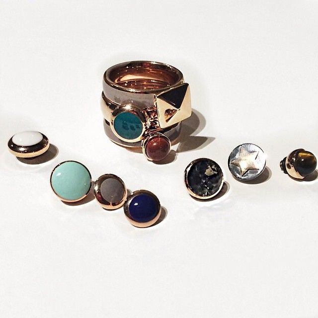 Powerwoman @annicilfn loves to mix and match with MelanO jewelry  Which stone is your favorite?