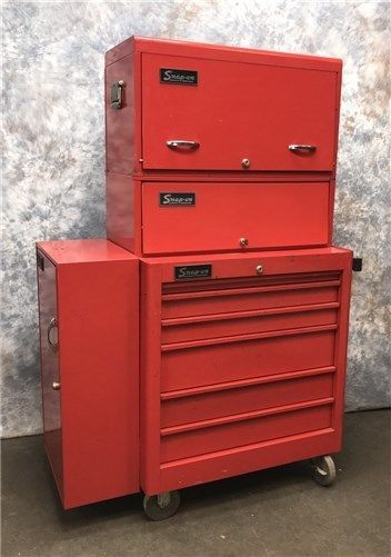 snap on tool cabinet 4 piece tool chest vintage snap on tool box 18 ...