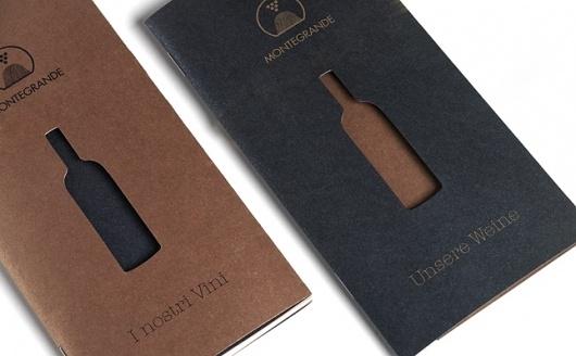 Designspiration — Riposizionamento azienda vinicola, realizzazione company profile e catalogo vini - O-zone per Montegrande