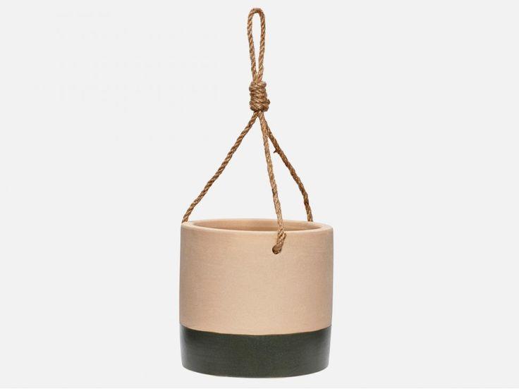 Doniczka String II Sand — Doniczki i osłonki Hübsch — sfmeble.pl   #scandinavian  #minimalism  #homedecor