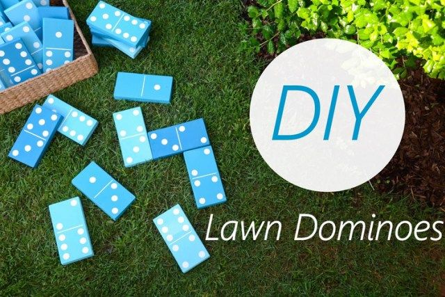 DIY lawn dominos, family fun, family games home activity idea