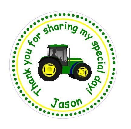 Tractor  John Deere Inspired   Thank You Favor by TootnBoo on Etsy, $6.00