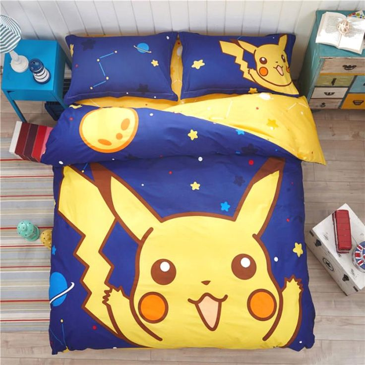 Pokemon Bedding Set Cartoon Kids Favorite Home Textile Pikachu in the Late Night No Fading Bed Sheet Twin Queen Bedspread $64.80   => Save up to 60% and Free Shipping => Order Now! #fashion #woman #shop #diy  http://www.beddingonline.net/product/pokemon-bedding-set-cartoon-kids-favorite-home-textile-pikachu-in-the-late-night-no-fading-bed-sheet-twin-queen-bedspread/