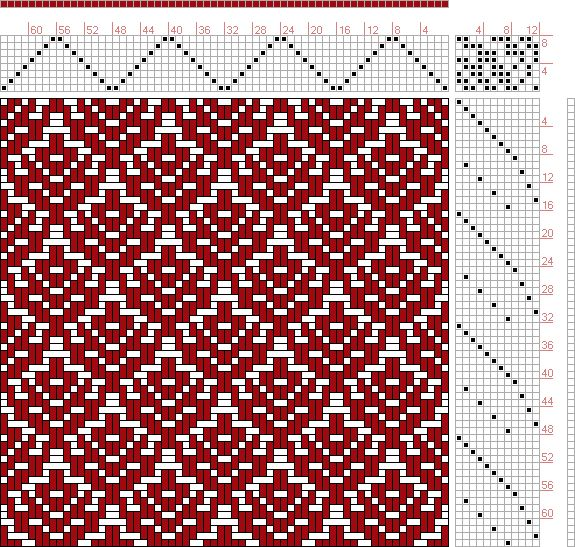 Hand Weaving Draft: Page 130, Figure 20, Donat, Franz Large Book of Textile Patterns, 8S, 12T - Handweaving.net Hand Weaving and Draft Archive