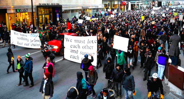 'Blacksgiving': Black Lives Matter activists share community Thanksgiving at Minneapolis protest
