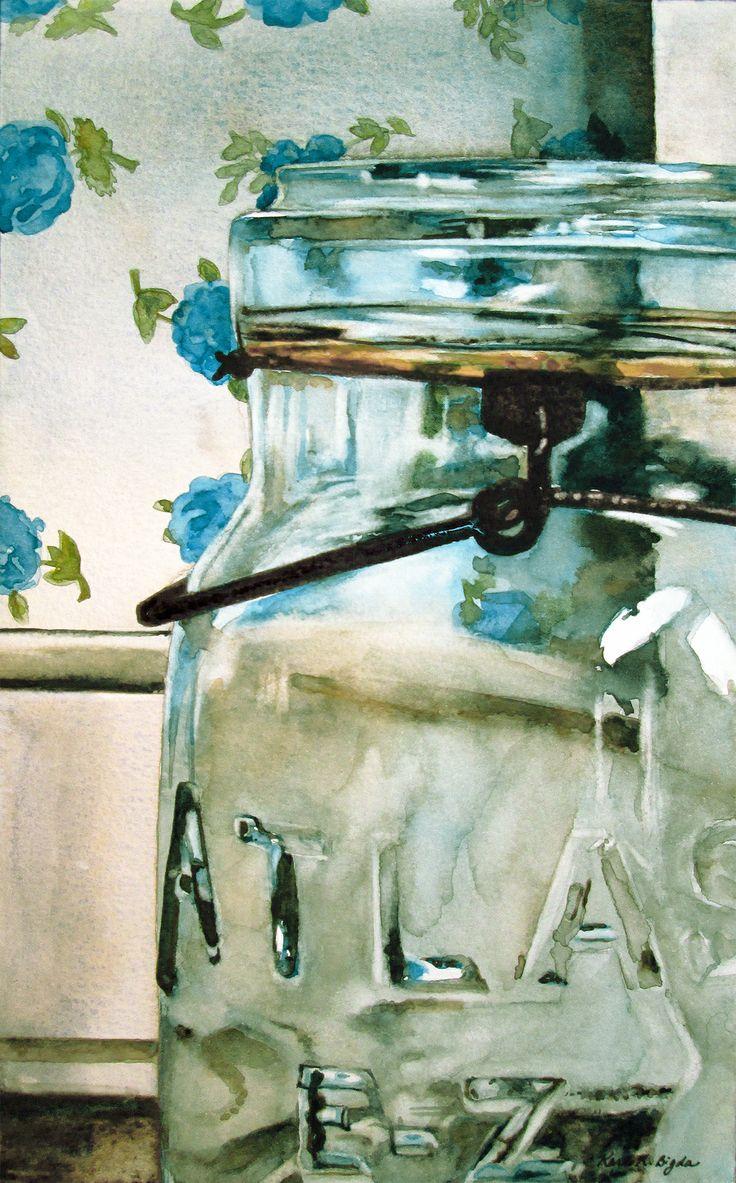 Fine watercolor art for sale -  Atlas 9 X 5 5 Watercolor On Paper Http