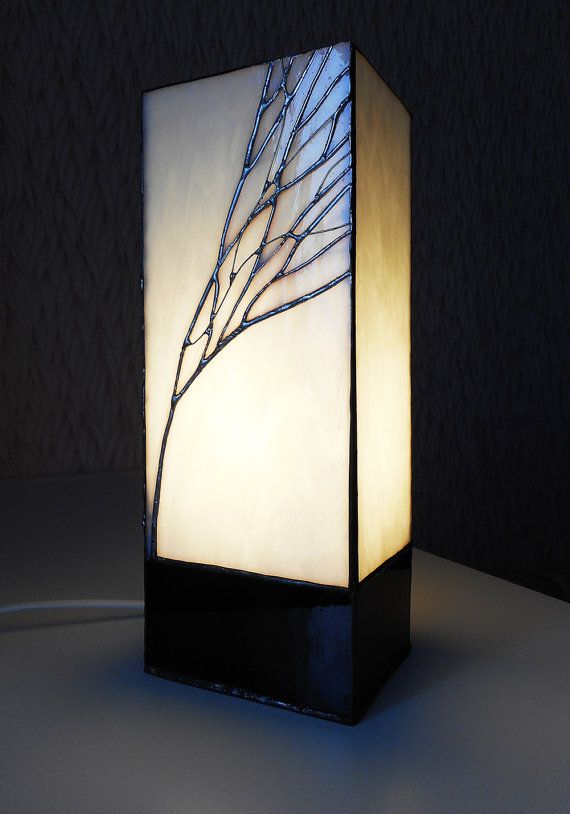 Tiffany table lamp. Stained glass lamp. Handmade lamp. by ArtSmiL