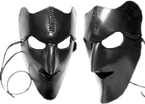 wicked nobility leather mask click image twice see a larger selection of scary masks