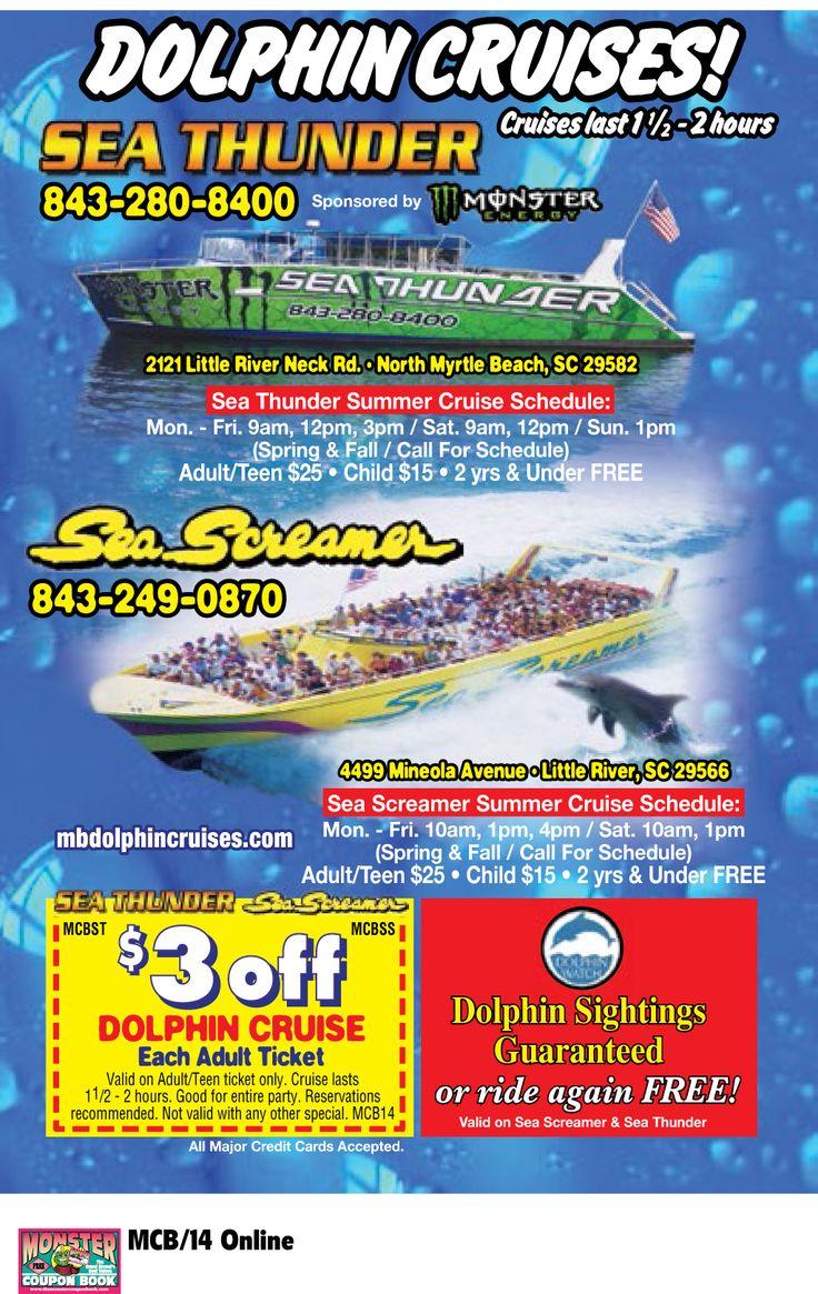 Sea Screamer Dolphin Cruise | Myrtle Beach Resorts