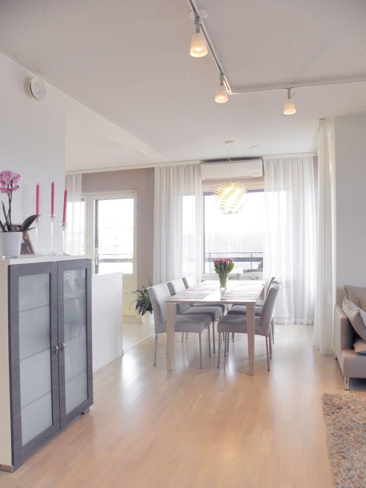 Apartment, dining, interior design. Asunto, ruokailu, sisustussuunnittelu. Lägenhet, matplats, inredningsdesign.