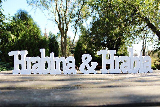 NAPIS duża HRABINA & HRABIA ślub ozdoba litery - sweety-home - Litery i napisy