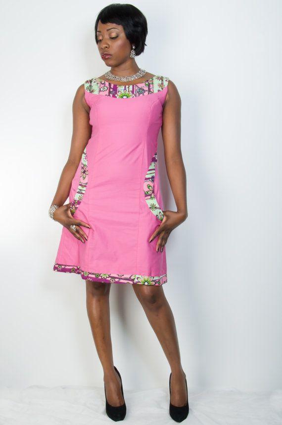 SALE: Ankara Arike Dress Babydoll Dress by MisiAfriqueBoutique
