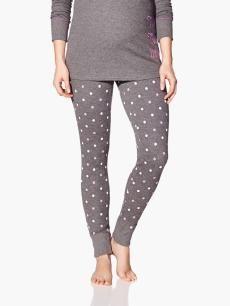 Legging imprimé de pyjama de maternité