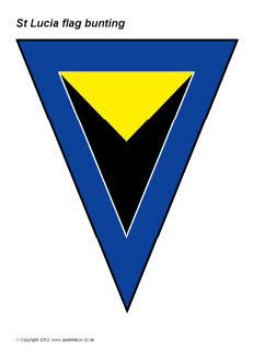 St Lucia flag bunting
