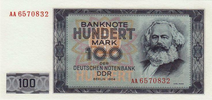 Germany banknotes 100 Mark note 1964 Karl Marx
